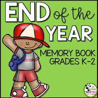 End of the Year Memory Book for K-2
