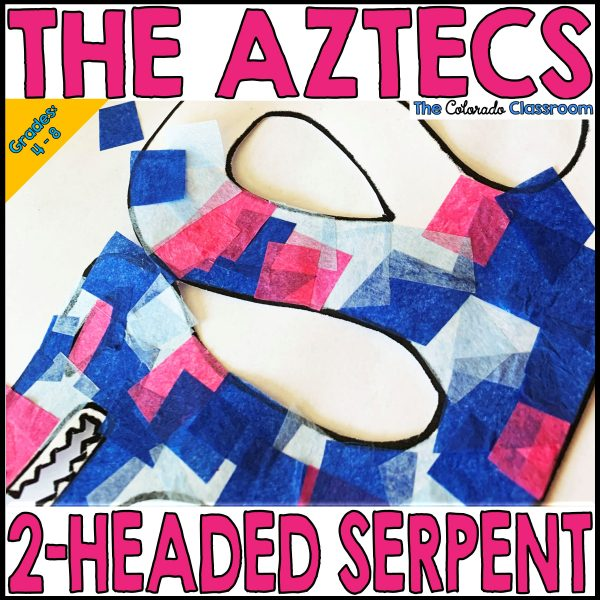 The Aztecs 2-Headed Serpent lesson with template and suggestions.