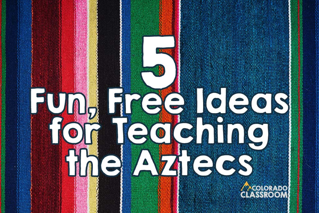 Teaching about the Aztecs won't be boring when you incorporate these Aztec activities into your upper elementary social studies unit! Read more in this Colorado Classroom blog.