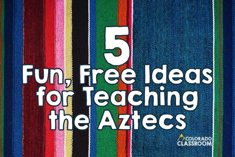 Teaching about the Aztecs won't be boring when you incorporate these five free Aztec activities into your upper elementary social studies unit! Read more on the Colorado Classroom blog.