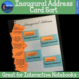 Inaugural Address Card Sort Cover Page
